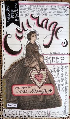 Courage. A new page from one of my art journals.