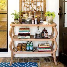 Bar Cart Ideas: 3-Shelf Bar Console