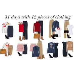 """31 days with 12 pieces of clothing 1/3"" by ketutar on Polyvore"