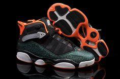 save off cb441 4a53f Jordan 6 Rings Black and Orange Air Jordan Shoes, Air Jordan Rétro, Cheap  Jordan