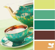 tea time tones - I think this is going to be VERY close to the color palette we use in our kitchen in the new house.
