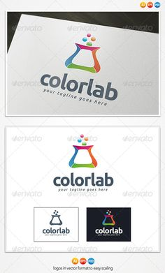 Color Lab  - Logo Design Template Vector #logotype Download it here: http://graphicriver.net/item/color-lab-logo/4301246?s_rank=1199?ref=nexion