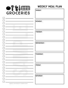 inspired printable menu planner -- and how to use online grocery pickup to save time and money! Farmhouse inspired printable menu planner -- and how to use online grocery pickup to save time and money! Menu Planner Printable, Grocery List Printable, Meal Planning Printable, Weekly Meal Planner, Planner Pages, Grocery Lists, Shopping Lists, Calendar Printable, Printable Templates