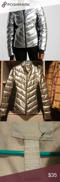 Live Love Dream Silver Puffer Jacket size s/p NEW Metallic Puffer Jacket size s/p 100% polyester  No tags Never worn live love dream Jackets & Coats Puffers