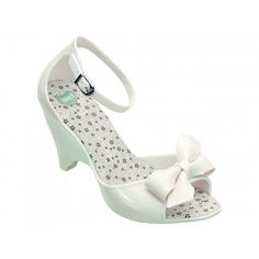 Mel Shoes by Melissa | Apple Ribbon Bow III White Wedges | www.melshoes.com