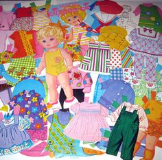 Vintage Mattel Tippee Toes Paper Doll and Outfits by Whitman 1960s. $12.95, via Etsy.