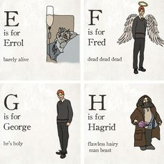 Kayla created this Harry Potter alphabet, and the world is better for it.