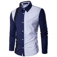 Camisa de manga larga informal para hombres de New Men's - Blanco Blanco XL XL