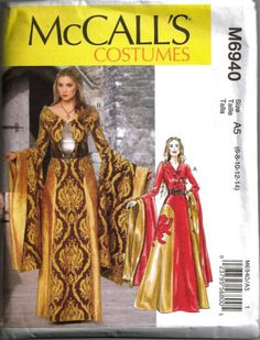 McCALLS-M6940-Misses-Fantasy-Cersei-Game-of-Thrones-Costume-Sewing-Pattern