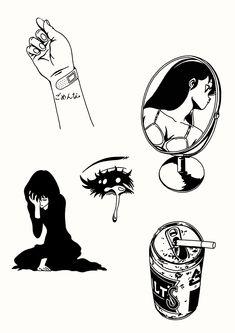 Future Tattoos, Love Tattoos, Body Art Tattoos, Tatoos, Tattoo Sketches, Tattoo Drawings, Art Drawings, Aesthetic Tattoo, Tattoo Flash Art