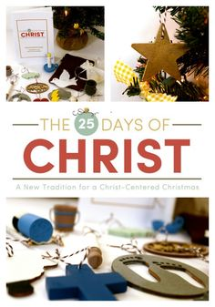 25 Days of Christ Tradition - Bring CHRIST into CHRISTMAS! Absolutely love this. So perfect for every size family!