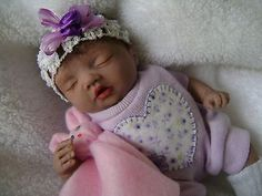 "Ooak polymer clay "" baby Dayanna"" ,6 inches,hand sculpted by Bettymoni"