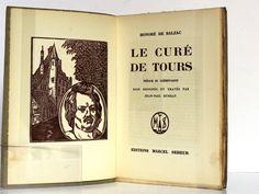 Le Curé de Tours, Honoré de BALZAC. Illustrations de Jean-Paul DUBRAY. Éditions Marcel Seheur, 1933. Frontispice et page titre.