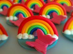 Rainbow Cupcake Toppers. Bridging ceremony?