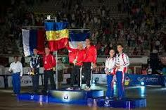 Medal winners on the podium at the World Dancesport Games 2013