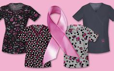 These scrub tops are EVERYTHING! #breastcancerawarenessmonth