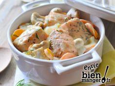 Blanquette de saumon au Roquefort