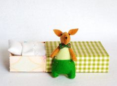 I suddenly need a cute little miniature rabbit! From Etsy!
