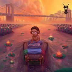 "New York Soul pt. ii   David Lojaya's amazing illustrations for Jon Bellion's album ""The Human Condition"""