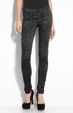 AG snake print pants in black will make your look fabulous, stylish and mysterious.
