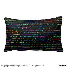 Jacquelyn Text Design I Lumbar Pillow