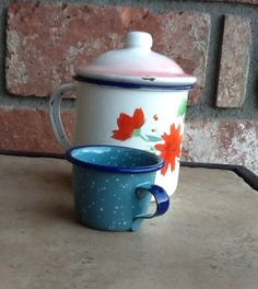 Vintage Enamelware by GlassGardenGorgeous on Etsy, $15.00