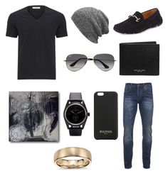 Untitled #10 by dhaanya on Polyvore featuring Versace, Scotch & Soda, Michael Kors, Balmain, Giorgio Armani, Bell & Ross, Blue Nile and Ray-Ban