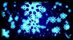 Winter Blue Snowflakes