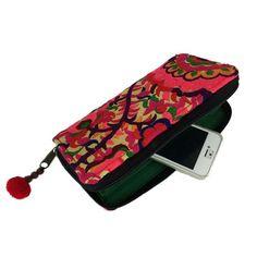 Blossom Zippered Wallet - Orange Handmade and Fair Trade Only Fashion, Fair Trade, Women Accessories, Zipper, Purses, Handmade, Stuff To Buy, Wallets, Lotus