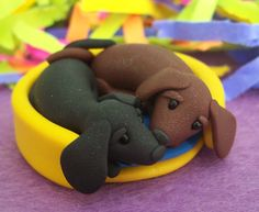 dachshund clay | Your Bed // clay polymer polymerclay pcagoe love pets dachshund ...