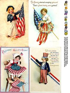 Postcard Sheets - Go Make Something 4th Of July Images, Patriotic Images, Patriotic Crafts, Fourth Of July Decor, 4th Of July Party, July 4th, Patriotic Table Decorations, Memorial Day Decorations, Summer Crafts