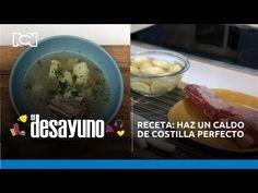 Receta: haz un caldo de costilla perfecto | El Desayuno - YouTube Chefs, Oatmeal, Pudding, Breakfast, Desserts, Food, Youtube, Soups, Recipes