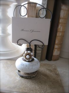 ❥ Vintage Door Knob Inspiration Holder - Photo Holder