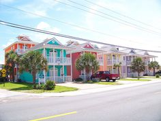 colorful beach houses revisited 2 by Traveling Fools of America, via Flickr