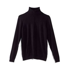 Ribbed Trim Turtleneck