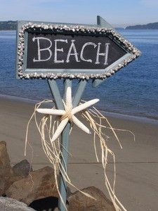 pretty sign for a beach party