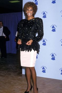 Whitney Houston attends the 29th Annual Grammy Awards on Feb. 24, 1987, at Shrine Auditorium in Los Angeles.