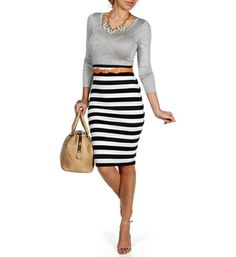 Pre-Order Gry Nvy Wht Colorblock Belted Midi Dress Professional Dresses e6d574eb7