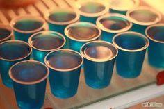 Blue raspberry jello shots
