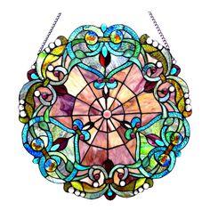 Tiffany Glass Window Panel