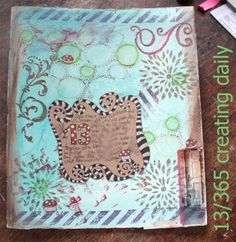 """Project """"365 - creating daily"""" day 13: 2nd part of this art journaling spread. Anke Humpert 01/2014 #365creatingdaily"""