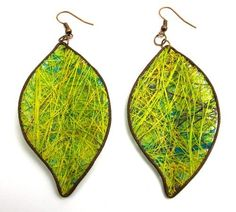 Fique Leaves Eco Friendly  Earrings, green  Price : $22.00 http://www.enloops.com/Fique-Leaves-Friendly-Earrings-green/dp/B009I9IW86