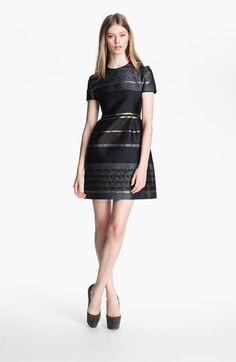 Victoria Beckham Stripe Jacquard Dress available at #Nordstrom