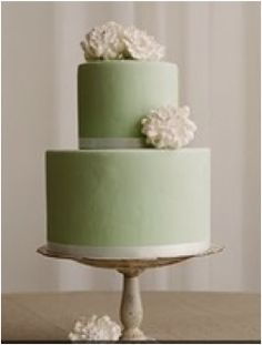 Beautiful Cake Pictures: Pretty Green Cake With Pink Flowers - Birthday Cake, Flower Cake - Beautiful Wedding Cakes, Beautiful Cakes, Amazing Cakes, Elegant Wedding, Wedding Simple, Gold Wedding, Spring Wedding, Wedding Flowers, Green Cake