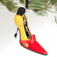 These Disney shoe ornaments celebrate your favorite Disney movies including Cinderella, The Little Mermaid, 101 Dalmatians, and The Princess and the Frog. Disney Shoe Ornaments, Disney Christmas Ornaments, Christmas Signs, Christmas Decorations, Holiday Decor, Xmas, Disney Princess Shoes, Disney Shoes, Disney Princesses
