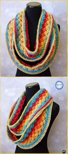 Crochet Lucky Celtic Infinity Scarf Free Pattern - Crochet Infinity Scarf Free Patterns