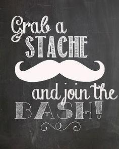 grab a stache...free mustache party prints #freeprint #mustacheprint #mustacheparty #stacheprint