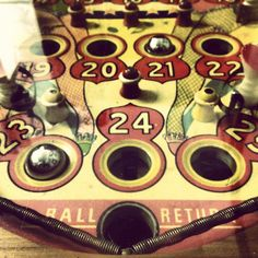 Vintage pinball art