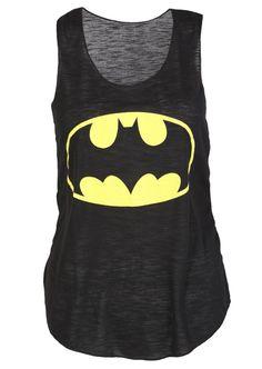 Batman Casual Vest Top - Womens Clothing Sale, Womens Fashion, Cheap Clothes Online | Miss Rebel