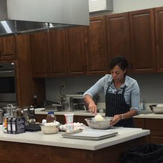 Chef from demonstrating Ricotta Gnocchi with Tomato Confit for our students today as part of the Empowered Women Chefs Series. by nichollsculinary Ricotta Gnocchi, Empowered Women, Chefs, Plating, Students, Kitchen, Art, Art Background, Cooking
